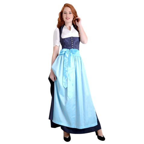 Langes Dirndl Vronerl in Blau von Apple of my Eye