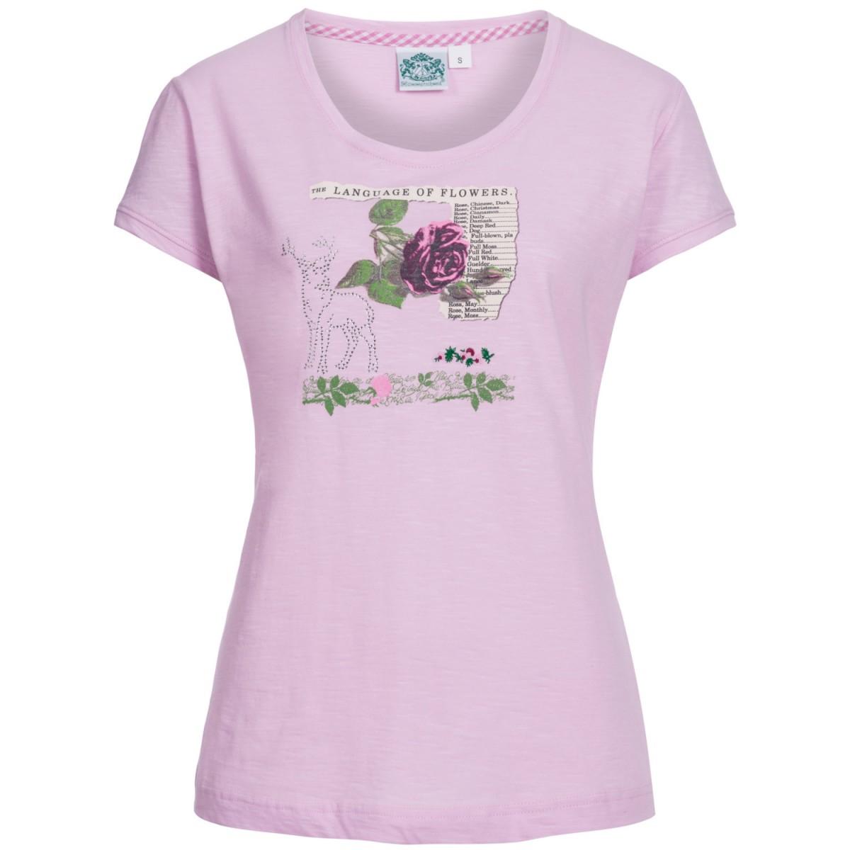 Trachtenshirt Blume in Rosa von Hammerschmid günstig online kaufen