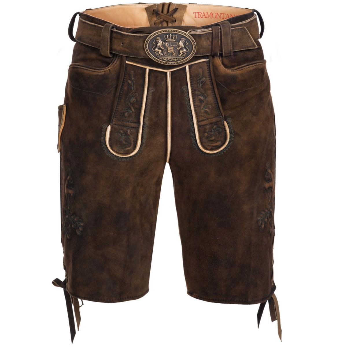 Kurze lederhose in dunkelbraun von tramontana ebay for Trachten finest