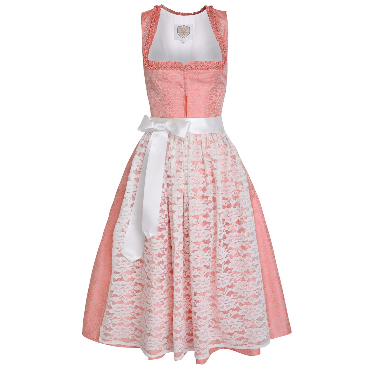 Langes Dirndl Marlies in Lachs von Apple of my Eye