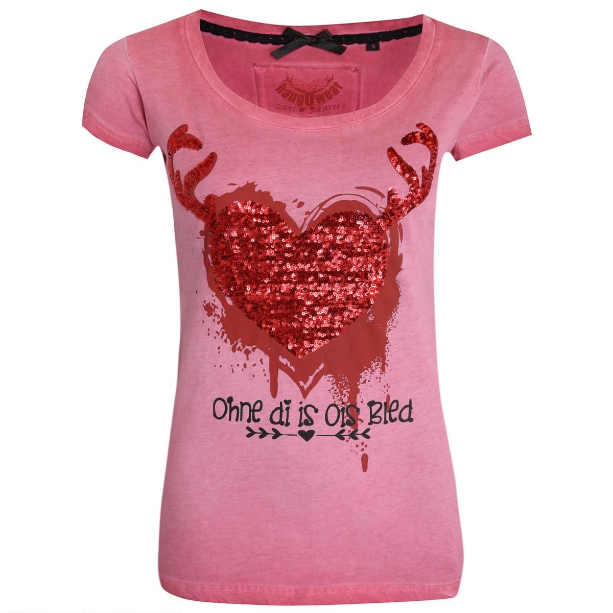 Trachtenshirt Veluxe in Rot von Marjo Trachten günstig online kaufen