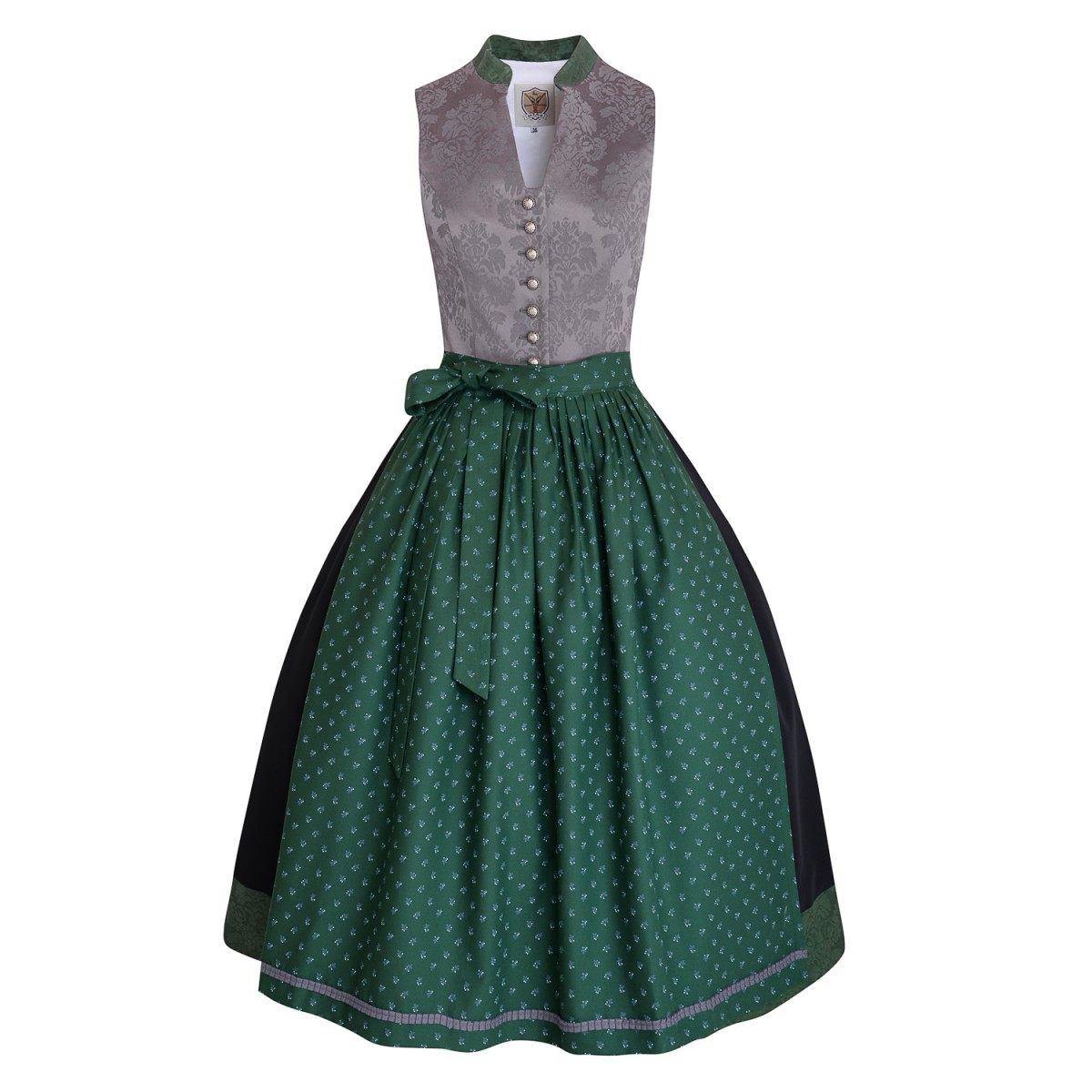 Langes Dirndl Josephine in Grau von Apple of my Eye
