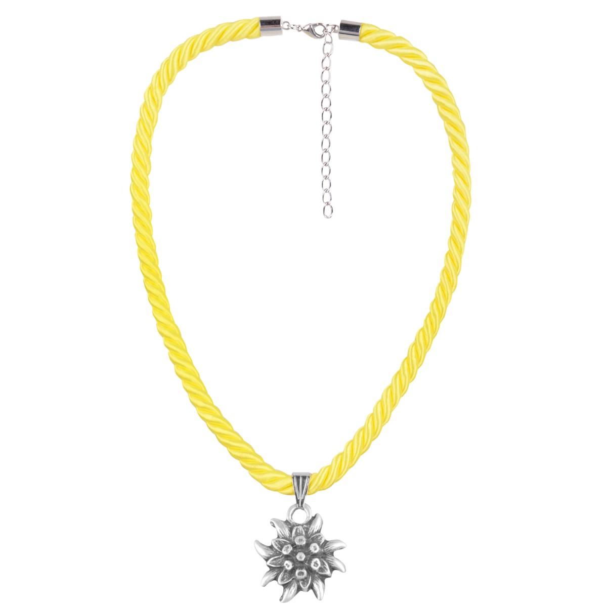 Kordelkette in Gelb mit Edelweiß von Schlick Accessoires günstig online kaufen
