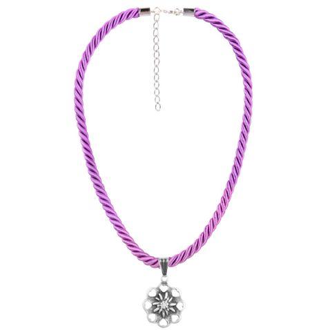Halskette mit Edelweißanhänger in Lila von Schlick Accessoires