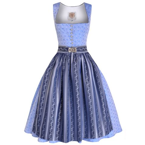 Midi Dirndl Evi in Hellblau von Apple of my Eye