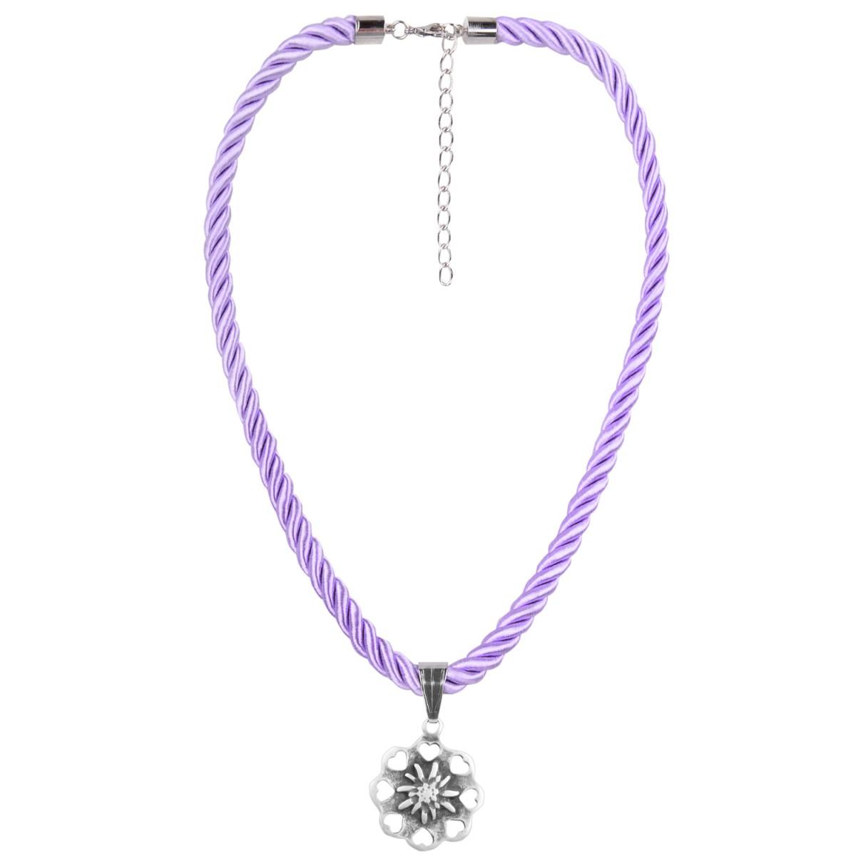 Halskette mit Edelweißanhänger in Lila von Schlick Accessoires günstig online kaufen