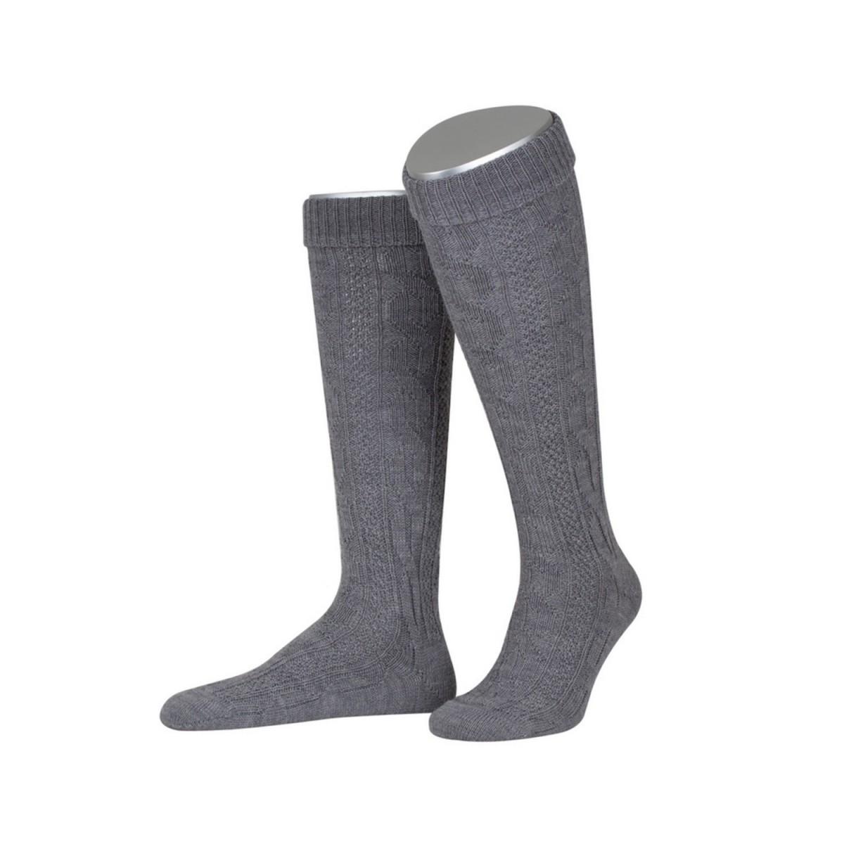 Kniebundstrumpf in Grau von Lusana günstig online kaufen