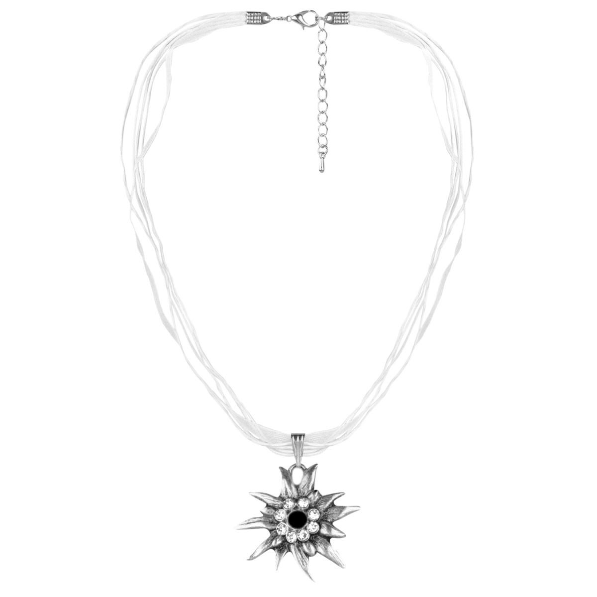 Halskette Weiß mit Edelweißanhänger von Schlick Accessoires günstig online kaufen