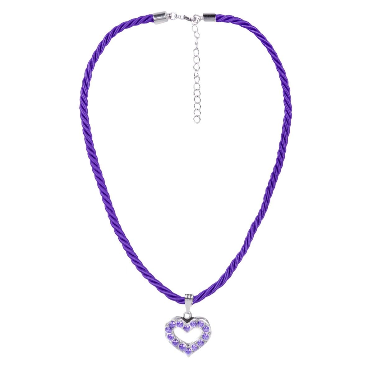 Halskette mit Herzanhänger in Lila von Schlick Accessoires günstig online kaufen