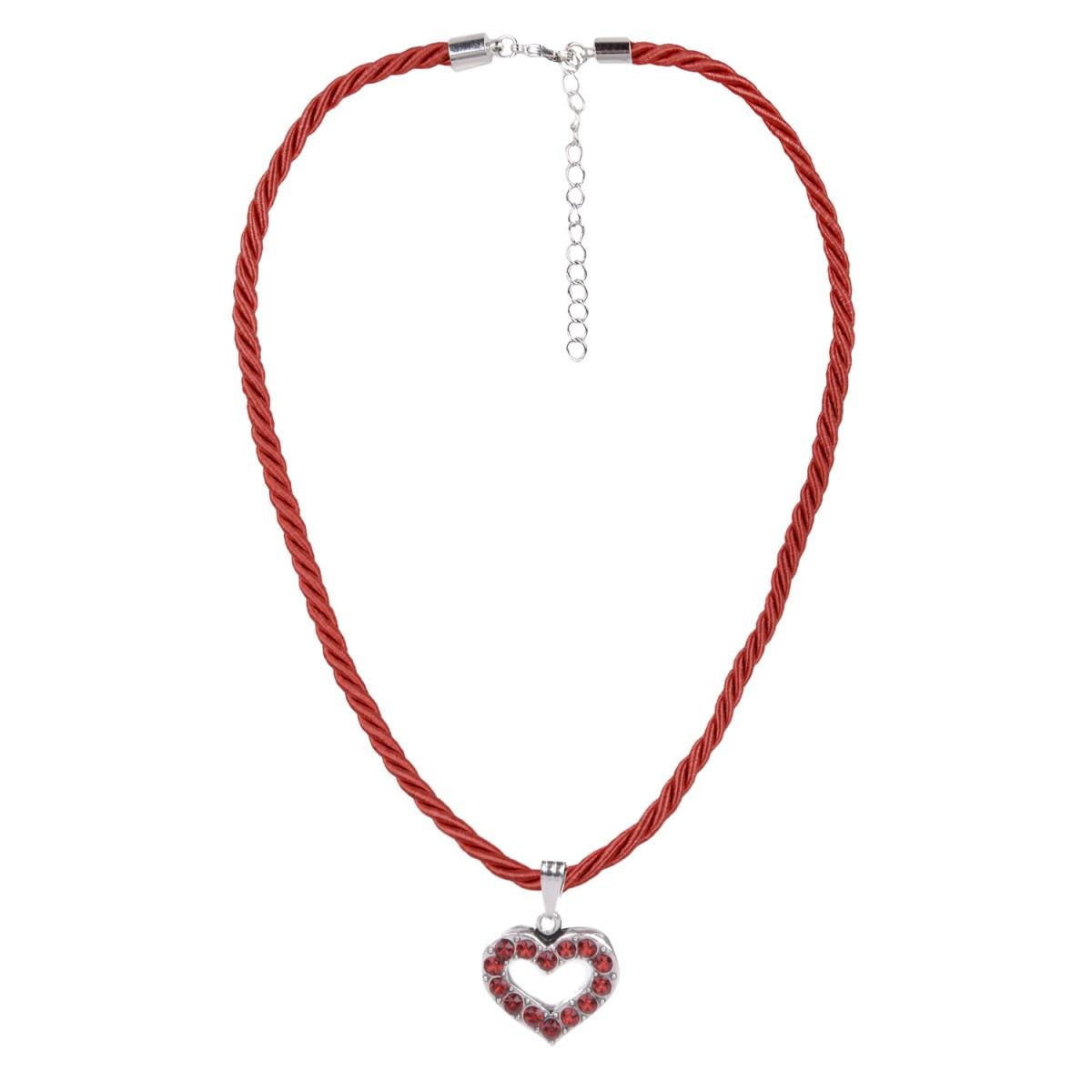 Halskette in Weinrot mit Herzanhänger von Schlick Accessoires günstig online kaufen