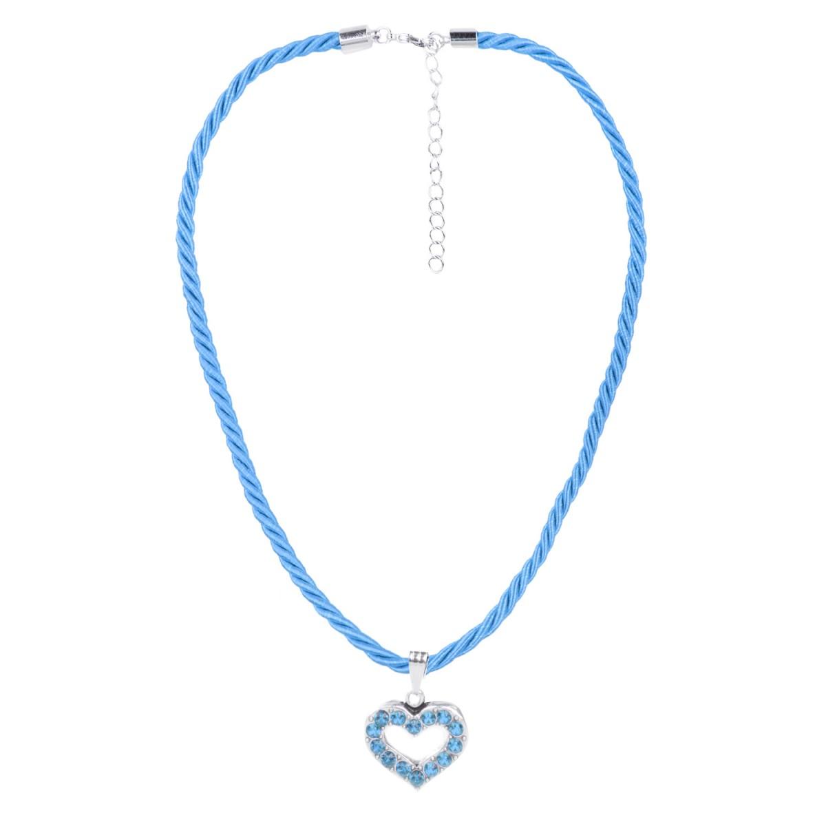 Halskette mit Herzanhänger in Hellblau von Schlick Accessoires günstig online kaufen