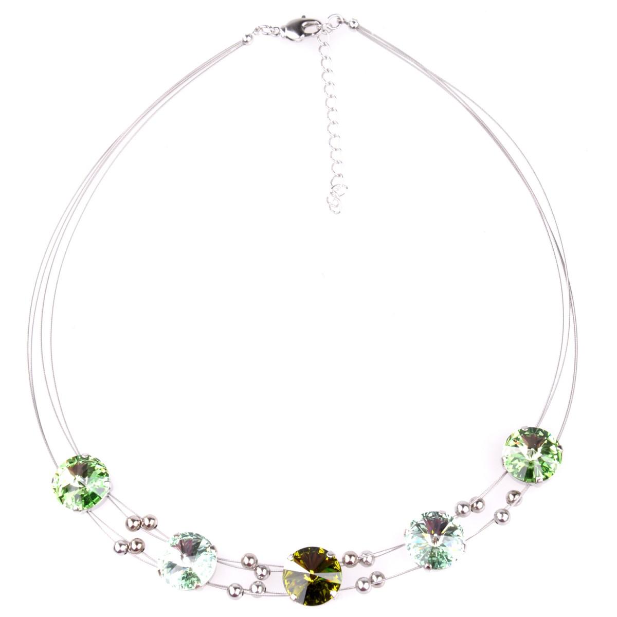 Halskette mit Swarovskisteine in Grün von Schlick Accessoires günstig online kaufen