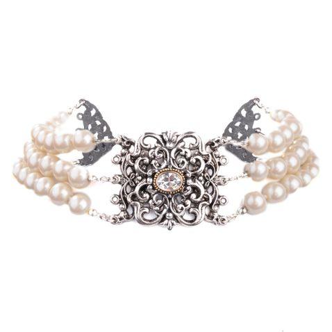 Perlenkropfkette in Weiß von Schlick Accessoires