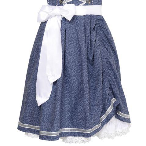 Mini Dirndl Tamilla in Blau von Marjo Trachten