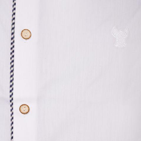 Trachtenhemd Body Fit Steffl zweifarbig in Weiß und Blau von Gweih und Silk