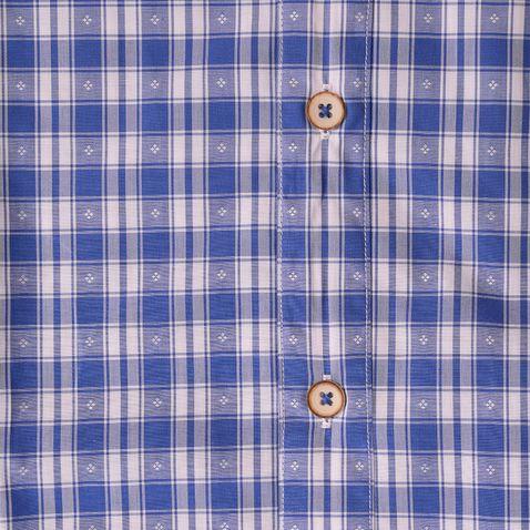 Trachtenhemd Body Fit Zenz zweifarbig in Blau und Rot von Gweih und Silk