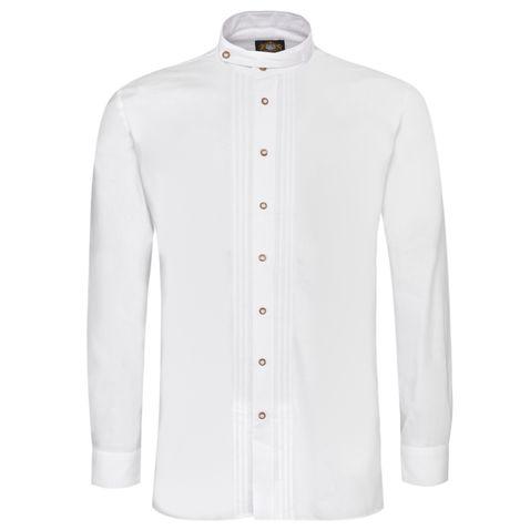 Trachtenhemd Adam Regular Fit mit Biesen in Weiß von Hammerschmid