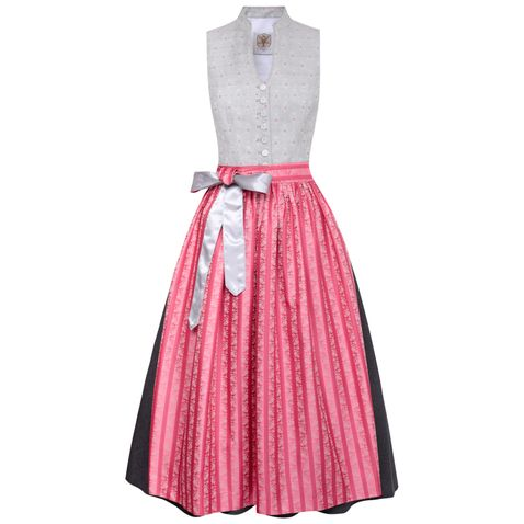 Langes Dirndl Veronika in Grau von Apple of my Eye
