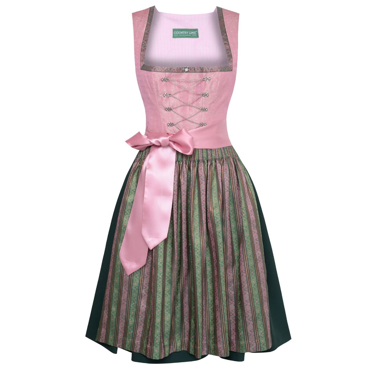 midi dirndl isabell in rosa von country line. Black Bedroom Furniture Sets. Home Design Ideas