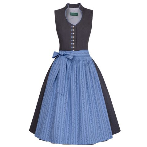 Midi Dirndl Anika in Anthrazit von Country Line