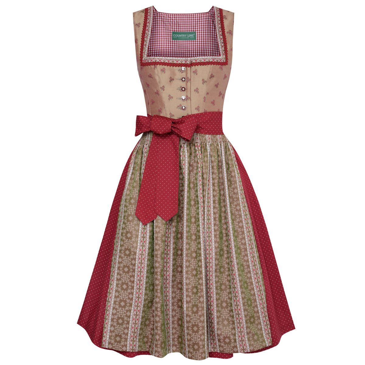 Midi Dirndl Galina in Beige von Country Line