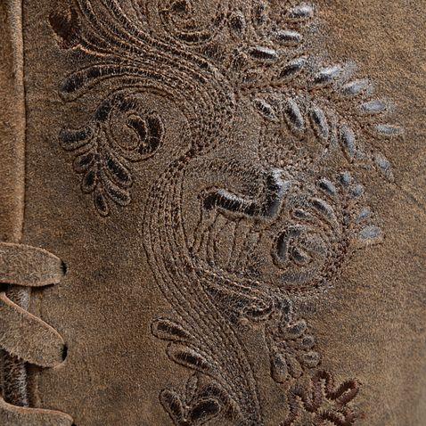 kurze Lederhose Zenzi in Braun von Marjo Trachten