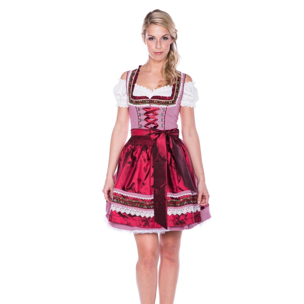 mini dirndl liesl in rot von kr ger dirndl. Black Bedroom Furniture Sets. Home Design Ideas