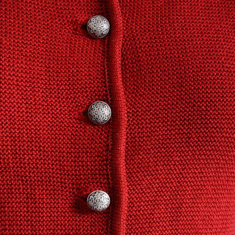 Trachtenstrickjacke Issy in Rot von Huber