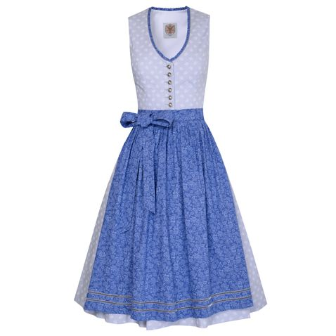 Midi Dirndl Magda in Grau von Apple of my Eye