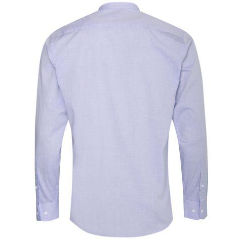 Trachtenhemd Body Fit Sebastian in Blau mit Biesen von Gweih und Silk
