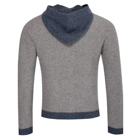 Strickjacke Anderl in Grau von Gweih und Silk