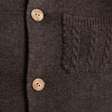Strickjacke Wastl in Braun von Gweih und Silk