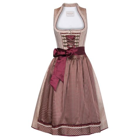 Midi Dirndl Hanny in Bordeaux von Krüger Collection