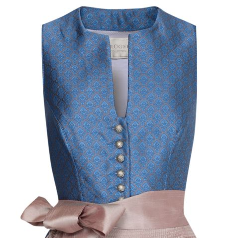 Midi Dirndl Gerti in Blau von Krüger Collection