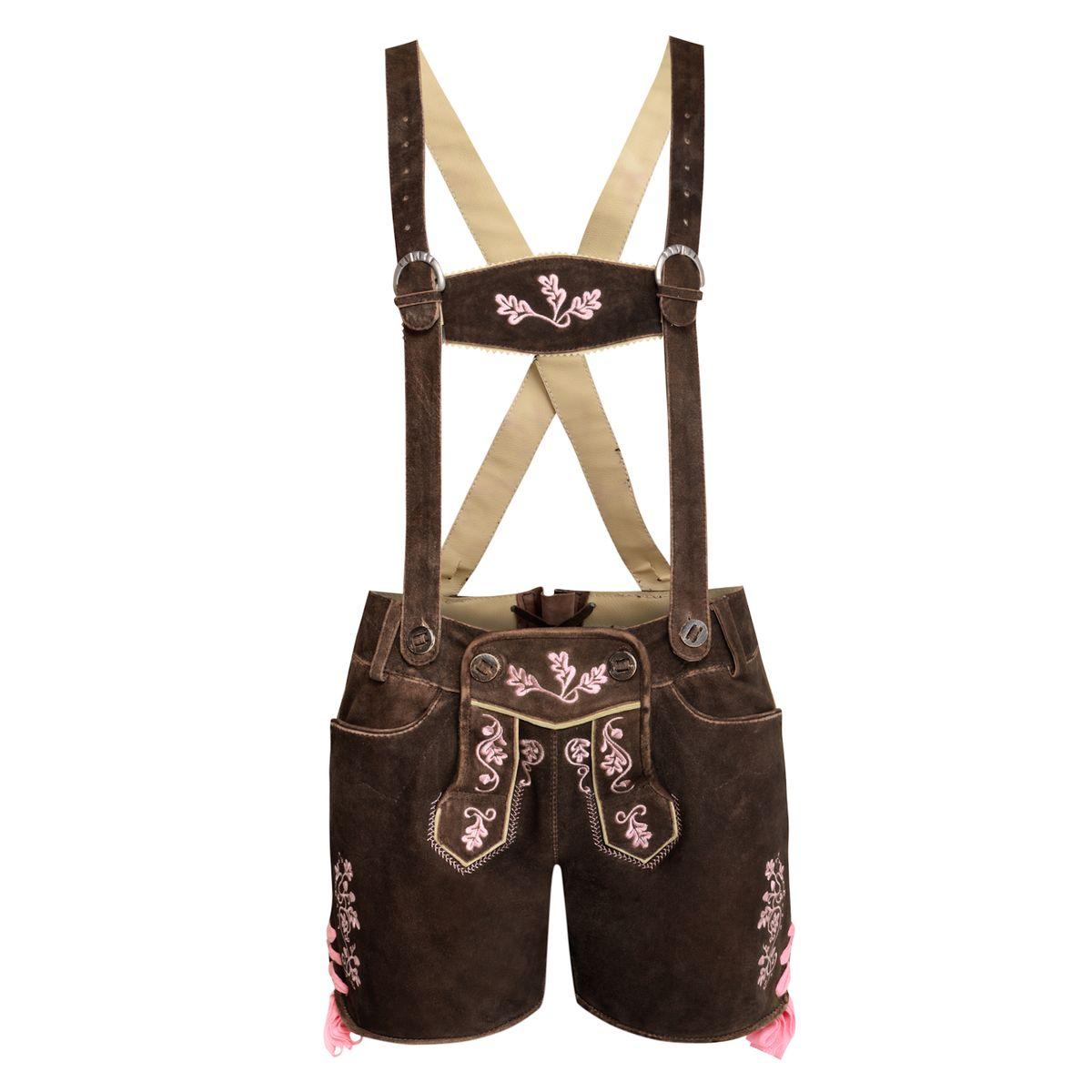 kurze Lederhose Sarah in Braun von Almsach günstig online kaufen