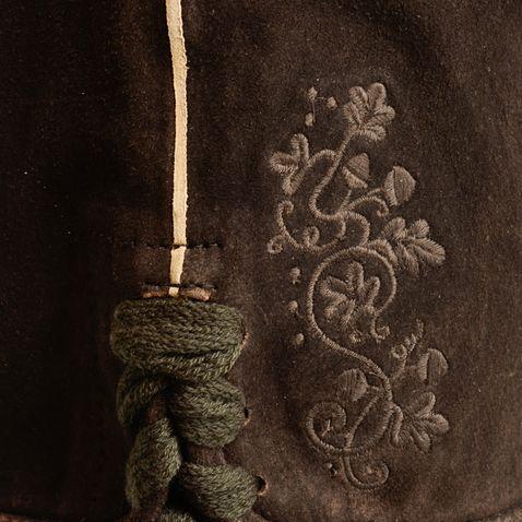 kurze Lederhose Resarl in Braun von Almsach