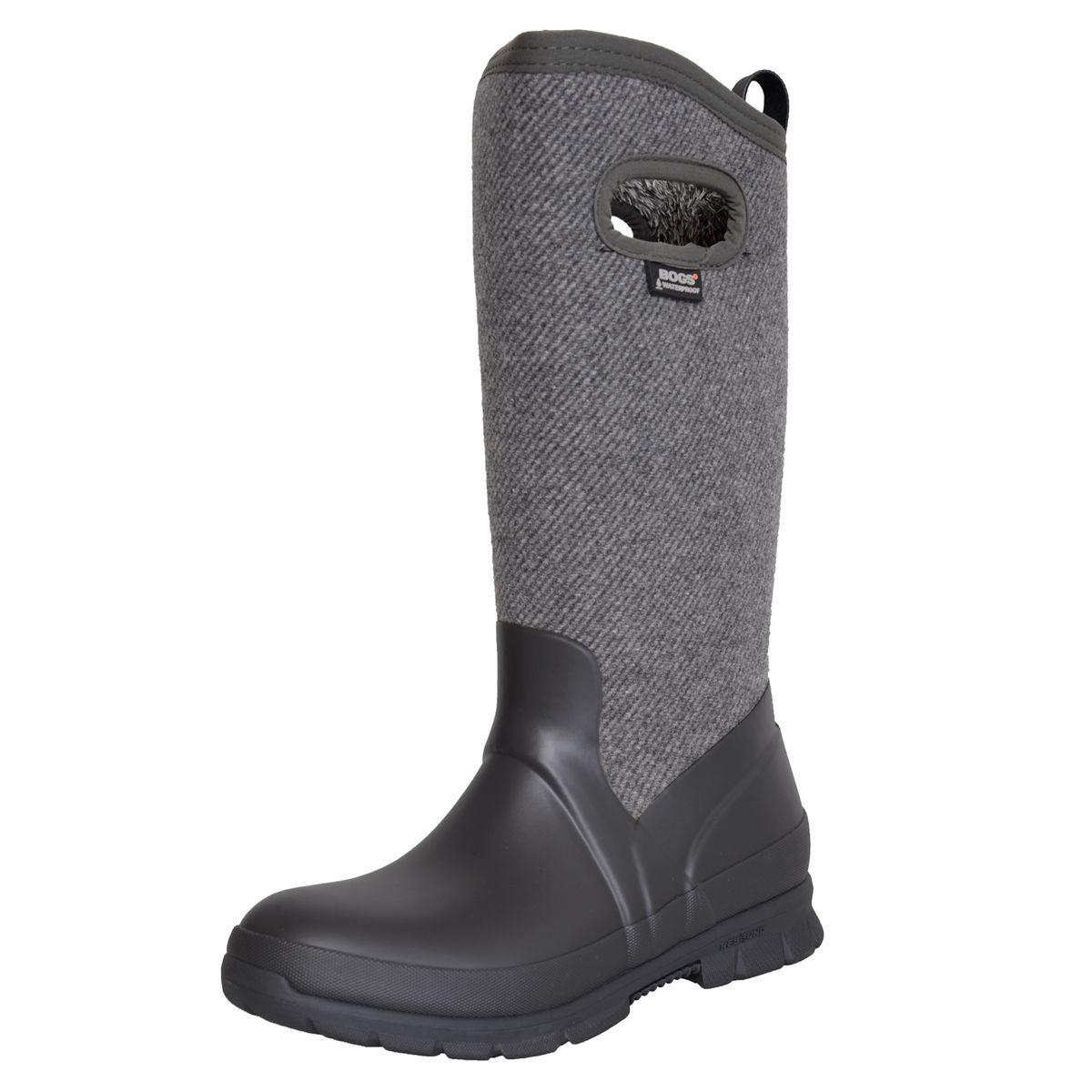 Gefütterter Herbst / Winter Stiefel in Grau von BOGS günstig online kaufen