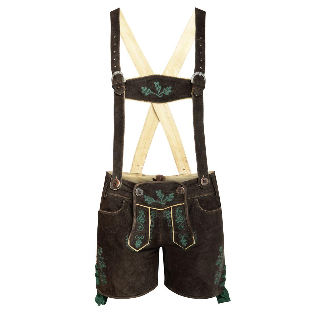 kurze Lederhose Nicole in Schwarz von Almsach günstig online kaufen