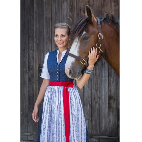 Midi Dirndl Marie in Blau von Apple of my Eye