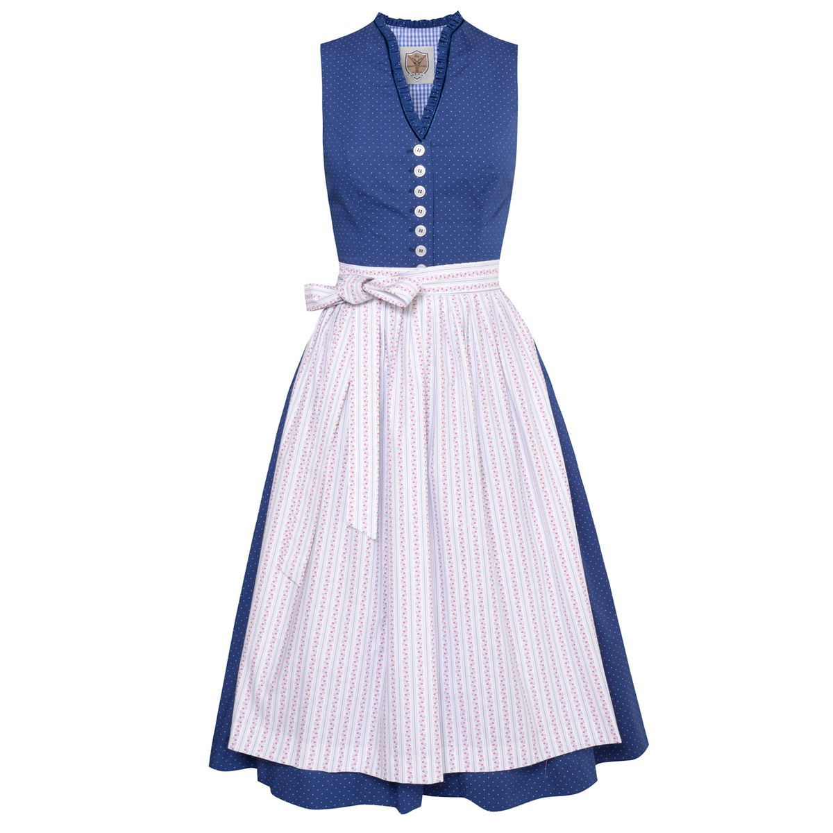 Midi Dirndl Melisa in Blau von Apple of my Eye