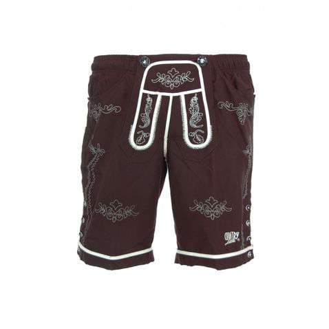 NEUES Model - Badehose Badelederhose Bermuda in Braun von Country Line