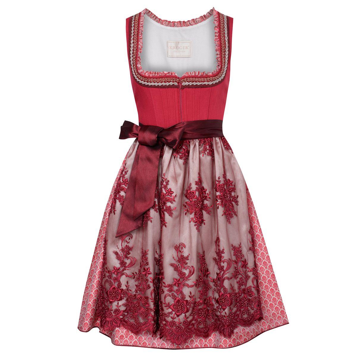 Midi Dirndl Theresa in Rot von Krüger Collection günstig online kaufen