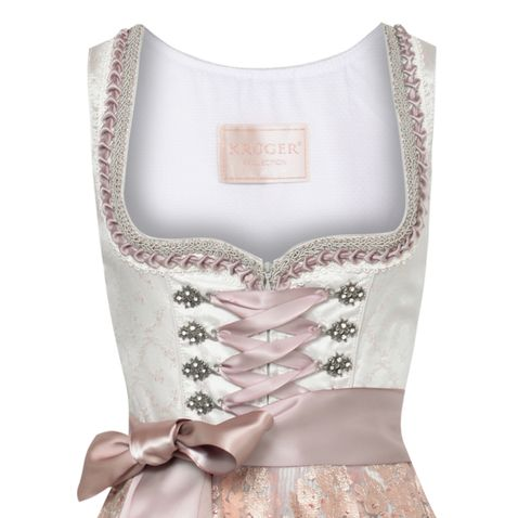 Midi Dirndl Elenore in Beige von Krüger Collection