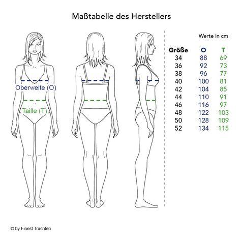 Trachtenbluse Sabine in Weiß von Hess