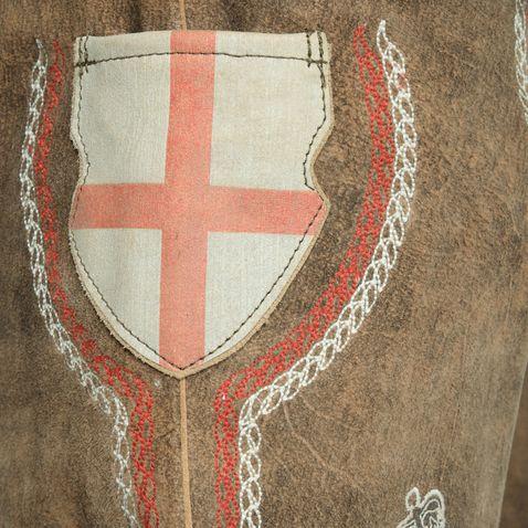 kurze Lederhose England in Braun von Krüger