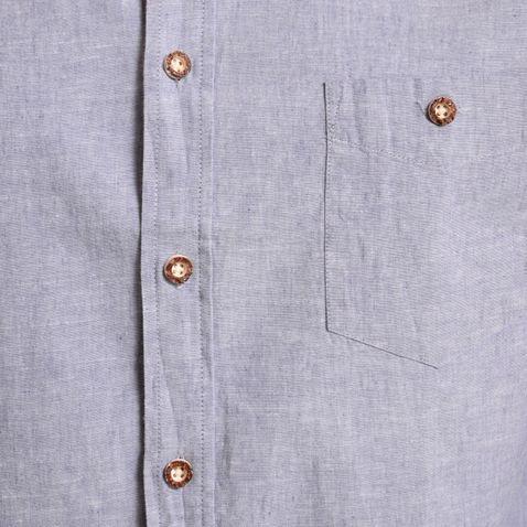 Trachtenhemd Body Fit Kochelsee in Blau von Gweih und Silk