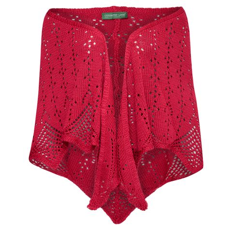 Poncho Lotte in Rot von Country Line