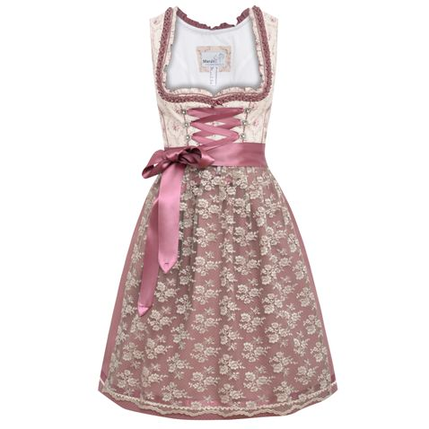 Midi Dirndl Bulda in Beige von Marjo Trachten