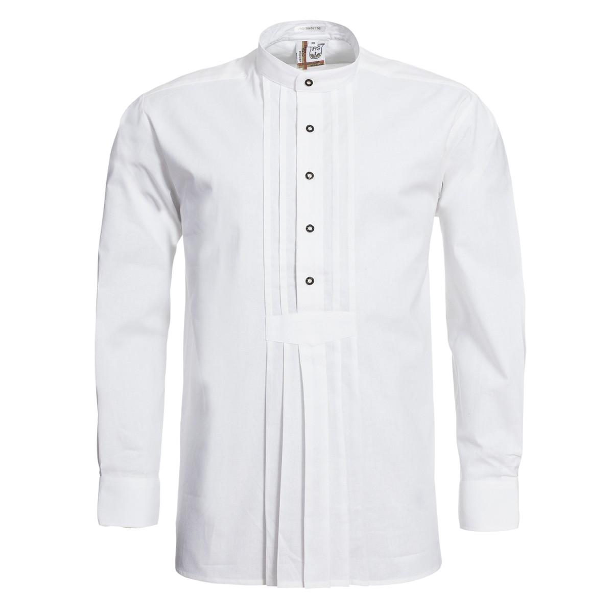 Trachtenhemd Max Regular Fit mit Riegel in Weiß von Schweighart