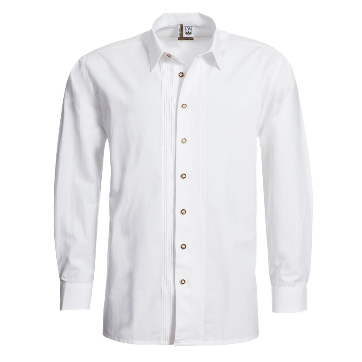 Trachtenhemd Regular Fit mit Biesen in Weiß von Schweighart